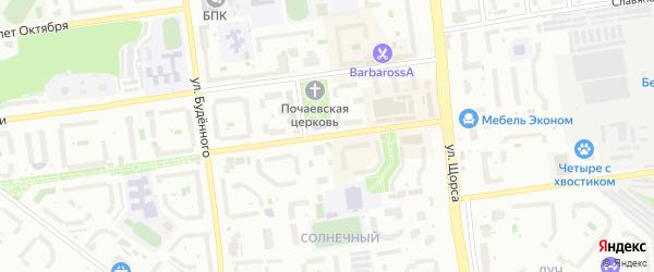Улица Конева на карте Белгорода с номерами домов