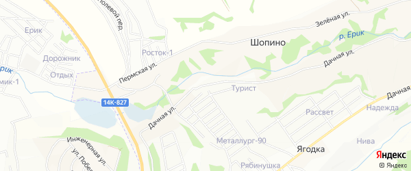 СТ Ромашка на карте Северного поселка с номерами домов