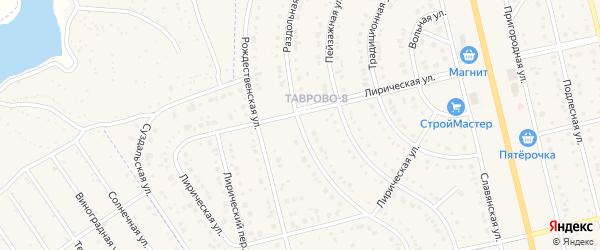 Раздольная улица на карте Таврово 8-й микрорайона с номерами домов