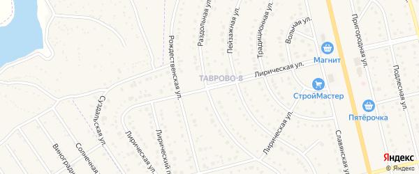 Лирическая улица на карте Таврово 8-й микрорайона с номерами домов