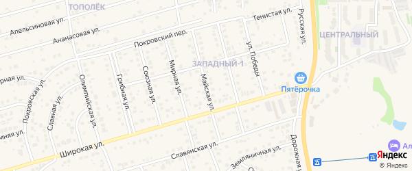Майская улица на карте поселка Дубового с номерами домов