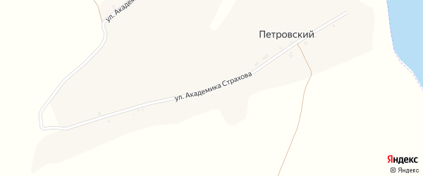Улица Улица академика Страхова на карте Петровского хутора с номерами домов