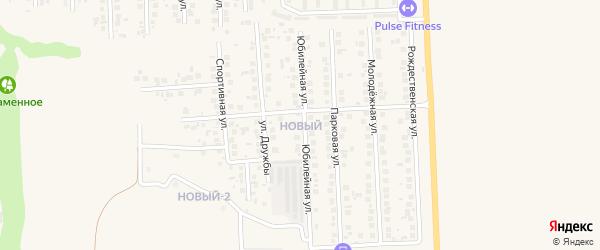 Новая улица на карте Северного 1-й поселка с номерами домов