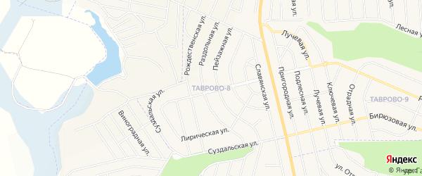 Карта Таврово 8-й микрорайона в Белгородской области с улицами и номерами домов