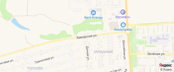 Заводская улица на карте поселка Дубового с номерами домов
