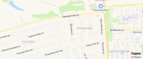 Дачная улица на карте поселка Дубового с номерами домов