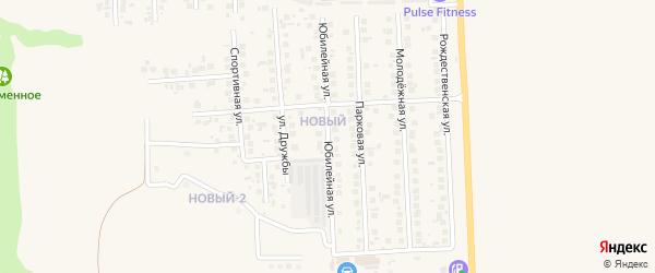 Юбилейная улица на карте поселка Дубового с номерами домов