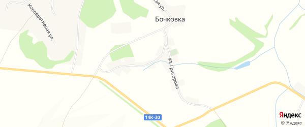 Карта села Бочковки в Белгородской области с улицами и номерами домов