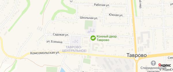 Садовая улица на карте села Таврово с номерами домов