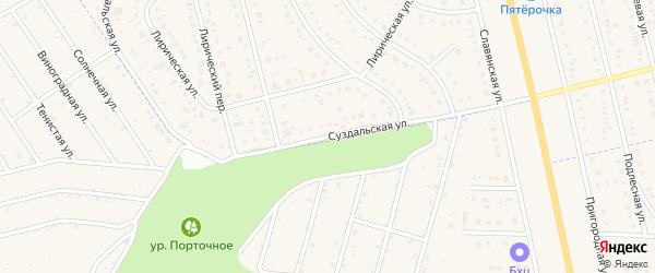 Суздальская улица на карте Таврово 8-й микрорайона с номерами домов