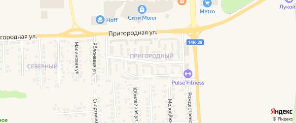 Благодатная улица на карте поселка Дубового с номерами домов