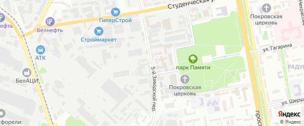 Заводской 5-й переулок на карте Белгорода с номерами домов