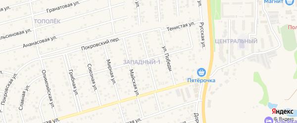 Октябрьская улица на карте поселка Дубового с номерами домов