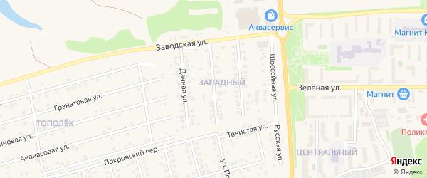 Сиреневая улица на карте Белгорода с номерами домов