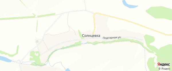 Карта села Солнцевки в Белгородской области с улицами и номерами домов
