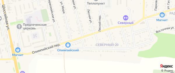 Первомайский переулок на карте Северного поселка с номерами домов
