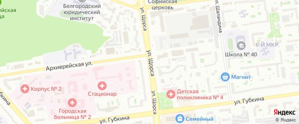 Улица Щорса на карте поселка Дубового с номерами домов