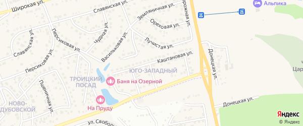 Каштановая улица на карте поселка Дубового с номерами домов
