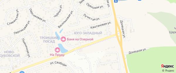 Каштановый 2-й переулок на карте поселка Дубового с номерами домов