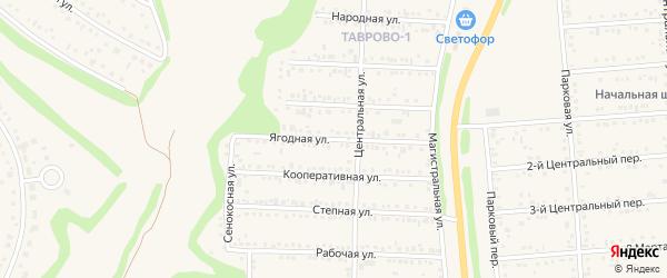 Ягодная улица на карте Таврово 1-й микрорайона с номерами домов
