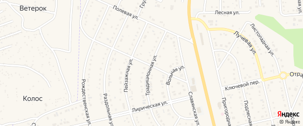 Традиционная улица на карте Таврово 8-й микрорайона с номерами домов