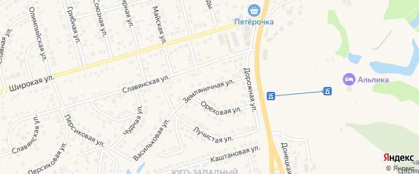 Земляничная улица на карте поселка Дубового с номерами домов