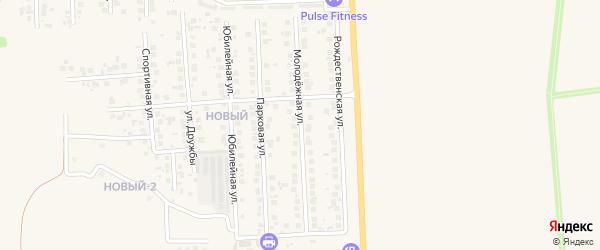 Молодежный переулок на карте поселка Дубового с номерами домов