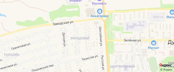 Сливовая улица на карте поселка Дубового с номерами домов