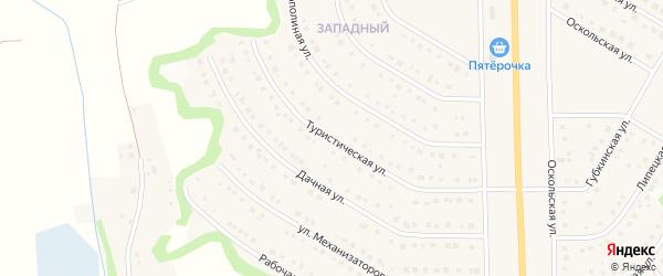 Туристическая улица на карте Никольского села с номерами домов