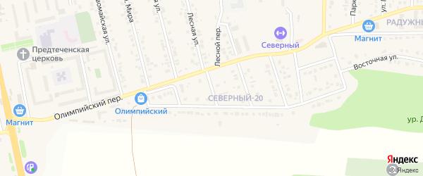 Переулок Мира на карте Северного поселка с номерами домов