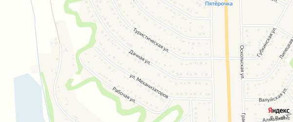 Дачная улица на карте Никольского села с номерами домов