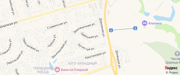 Ореховая улица на карте поселка Дубового с номерами домов