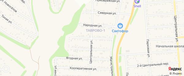 Привольная улица на карте Таврово 1-й микрорайона с номерами домов