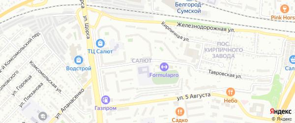 Улица Дегтярева на карте Белгорода с номерами домов