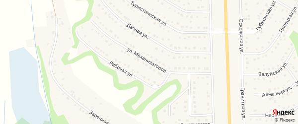 Улица Механизаторов на карте Никольского села с номерами домов
