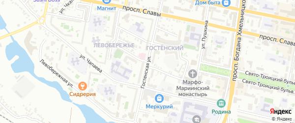 Улица Разина на карте Белгорода с номерами домов