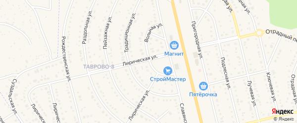 Вольная улица на карте Таврово 8-й микрорайона с номерами домов
