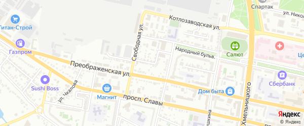 Свободный проезд на карте Белгорода с номерами домов