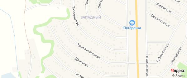 Тополиная улица на карте Никольского села с номерами домов