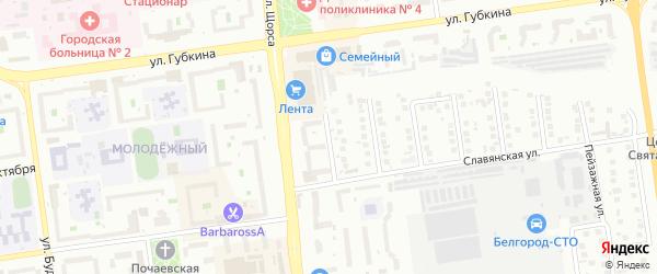 Владимирский переулок на карте Белгорода с номерами домов