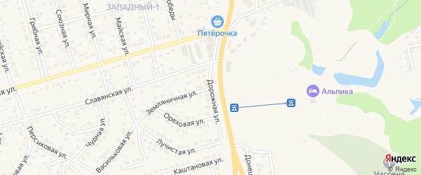 Дорожная улица на карте поселка Дубового с номерами домов