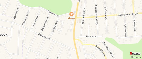 Магистральная улица на карте Таврово 5-й микрорайона с номерами домов