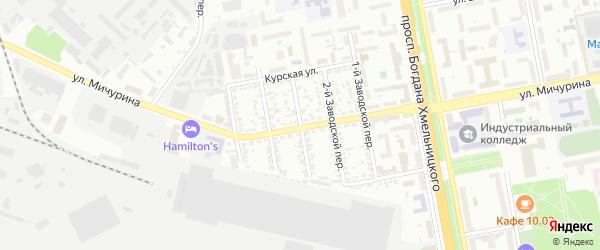 Заводской 3-й переулок на карте Белгорода с номерами домов