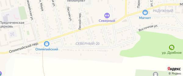 Полевой переулок на карте Северного поселка с номерами домов