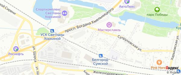 Супруновский 5-й переулок на карте Белгорода с номерами домов
