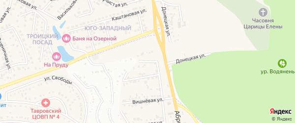 Улица Энергетиков на карте Таврово 1-й микрорайона с номерами домов