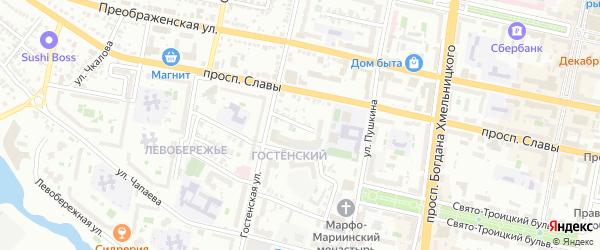 Улица Демьяна Бедного на карте Белгорода с номерами домов