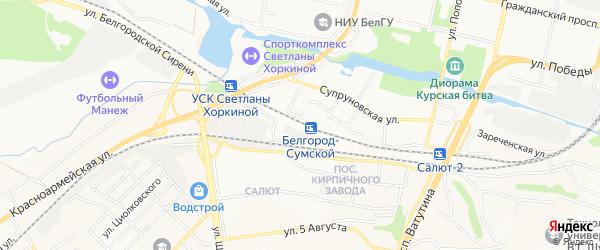 СТ Дружба-3 на карте Белгорода с номерами домов