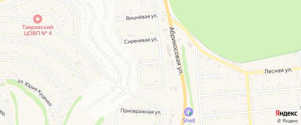 Абрикосовая улица на карте Таврово 1-й микрорайона с номерами домов