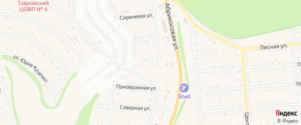 Березовая улица на карте Таврово 1-й микрорайона с номерами домов